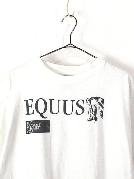 [2] 古着 90s USA製 EQUUS エクウス 戯曲 ミュージカル ムービー Tシャツ XL 古着