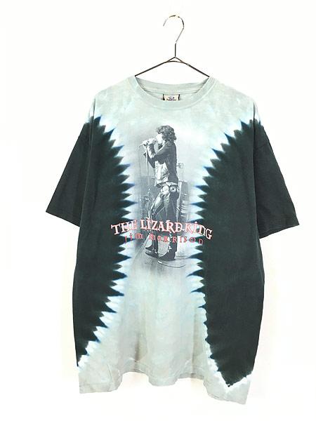 [1] 古着 00s The Doors Jim Morrison 「The Lizard King」 ロック バンド タイダイ Tシャツ XL 古着
