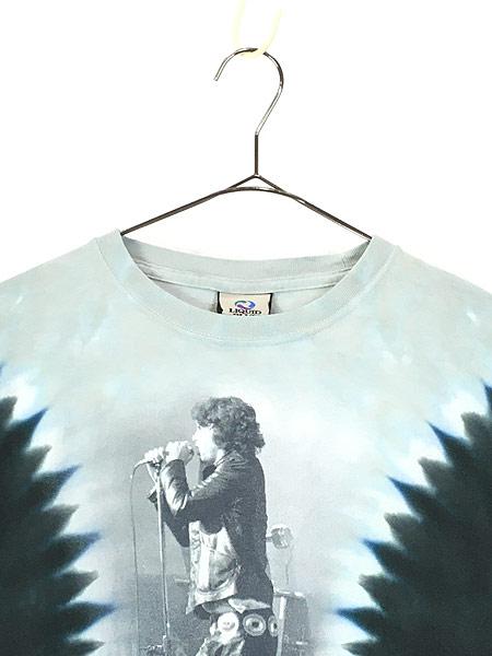 [2] 古着 00s The Doors Jim Morrison 「The Lizard King」 ロック バンド タイダイ Tシャツ XL 古着