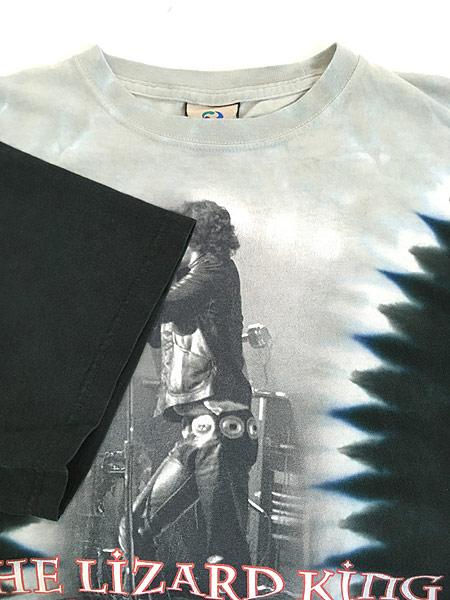 [4] 古着 00s The Doors Jim Morrison 「The Lizard King」 ロック バンド タイダイ Tシャツ XL 古着