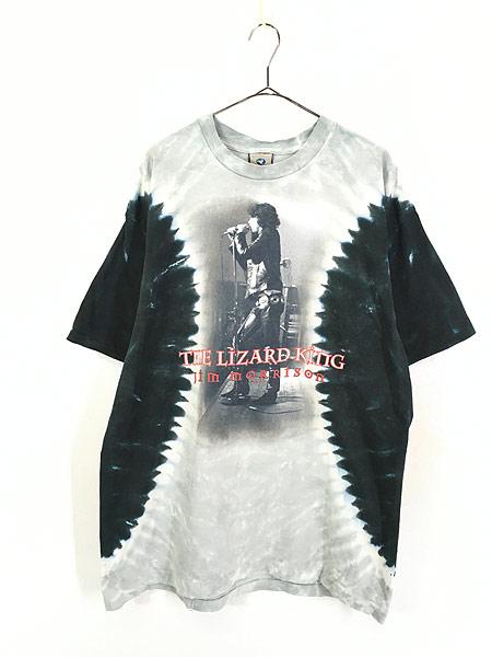 [1] 古着 00s USA製 The Doors Jim Morrison 「The Lizard King」 ロック バンド タイダイ Tシャツ XL 古着