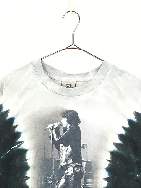 [2] 古着 00s USA製 The Doors Jim Morrison 「The Lizard King」 ロック バンド タイダイ Tシャツ XL 古着