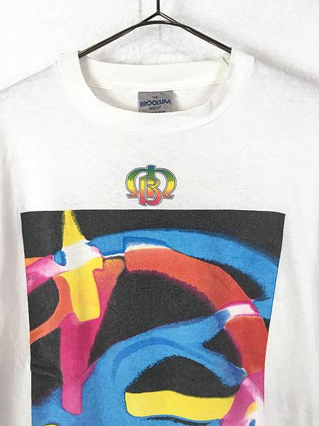 [2] 古着 90s USA製 The Moody Blues 「MCMXC」 ツアー プログレ ロック バンド Tシャツ XL 古着