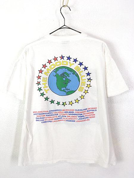 [5] 古着 90s USA製 The Moody Blues 「MCMXC」 ツアー プログレ ロック バンド Tシャツ XL 古着