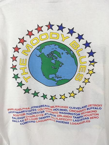 [6] 古着 90s USA製 The Moody Blues 「MCMXC」 ツアー プログレ ロック バンド Tシャツ XL 古着