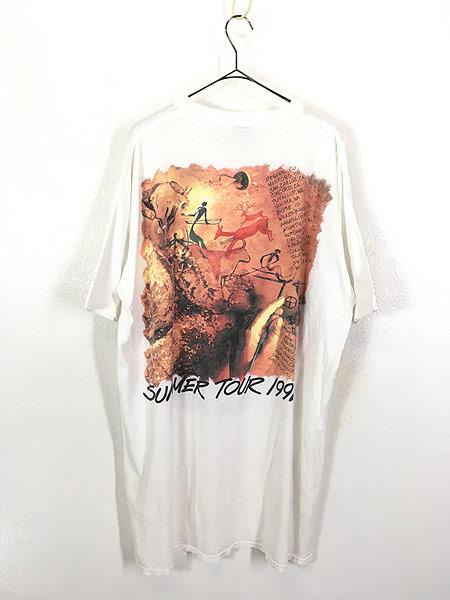 [3] 古着 90s USA製 The Moody Blues サマーツアー プログレ ロック バンド Tシャツ XL位 古着