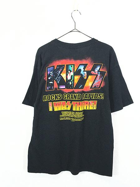 [3] 古着 00s KISS 「I WAS THERE」 BIG フォト メタル ロック バンド Tシャツ L 古着