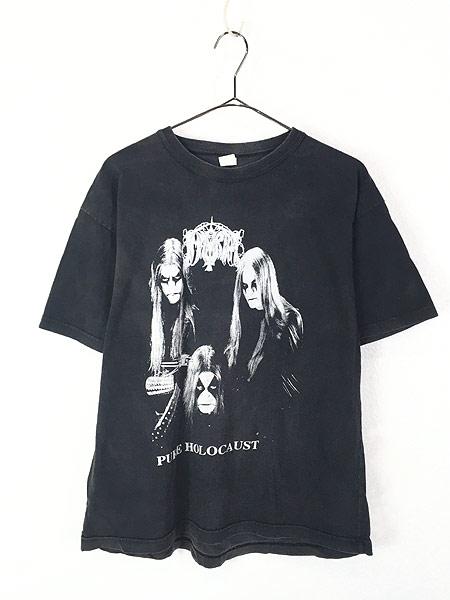 [1] 古着 90s ギリシャ製 Immortal 「Pure Holocaust」 ブラック メタル ロック バンド Tシャツ M 古着