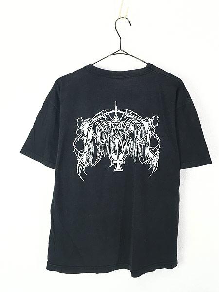 [3] 古着 90s ギリシャ製 Immortal 「Pure Holocaust」 ブラック メタル ロック バンド Tシャツ M 古着