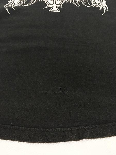 [5] 古着 90s ギリシャ製 Immortal 「Pure Holocaust」 ブラック メタル ロック バンド Tシャツ M 古着