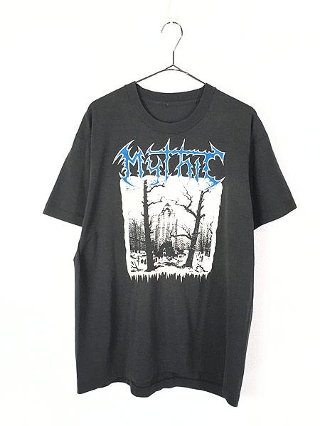[1] 古着 90s Mythic 「Mourning In The Winter Solstice」 デス メタル ロック バンド Tシャツ XL位 古着