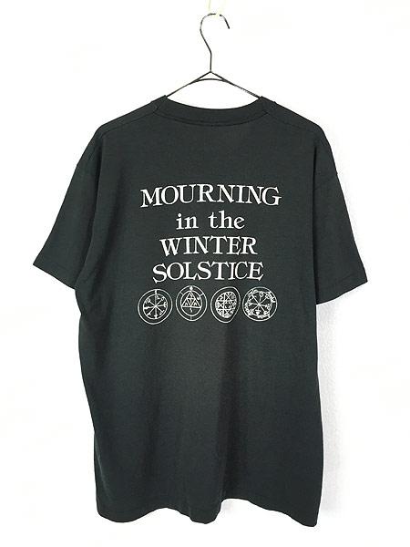 [3] 古着 90s Mythic 「Mourning In The Winter Solstice」 デス メタル ロック バンド Tシャツ XL位 古着