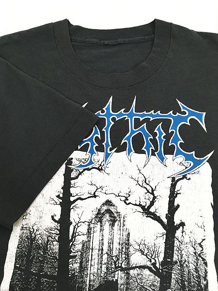 [4] 古着 90s Mythic 「Mourning In The Winter Solstice」 デス メタル ロック バンド Tシャツ XL位 古着