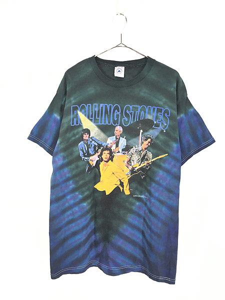 [1] 古着 90s Rolling Stones 「No Security」 ツアー ロック バンド タイダイ Tシャツ L 古着