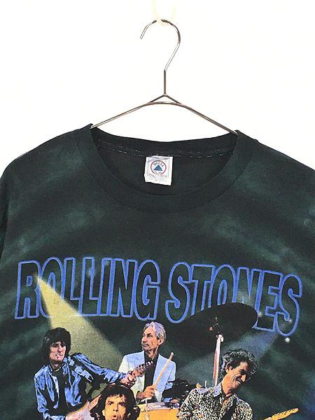 [2] 古着 90s Rolling Stones 「No Security」 ツアー ロック バンド タイダイ Tシャツ L 古着