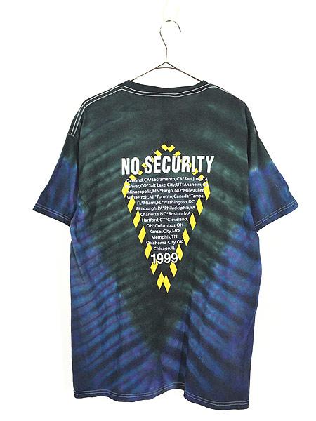 [3] 古着 90s Rolling Stones 「No Security」 ツアー ロック バンド タイダイ Tシャツ L 古着