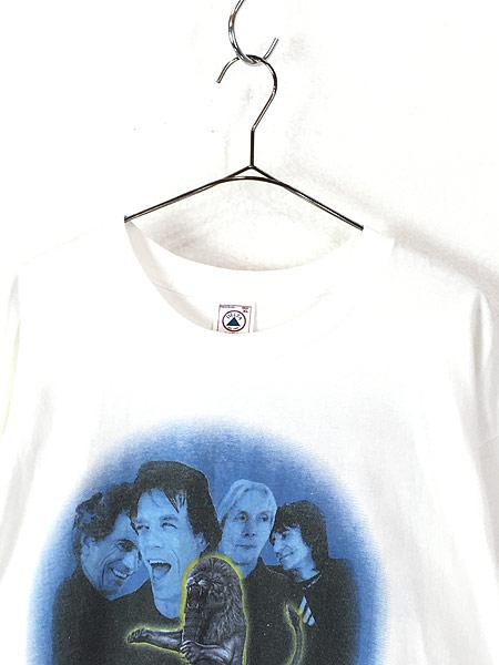 [2] 古着 90s The Rolling Stones 「Bridges to Babylon」 ツアー ロック バンド Tシャツ XL 古着
