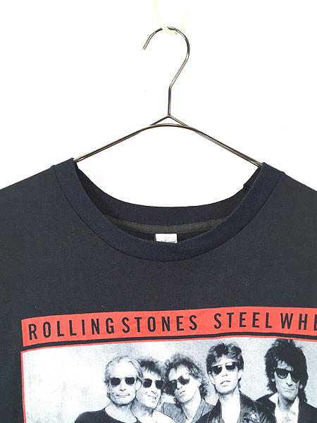 [2] 古着 80s USA製 Rolling Stones 「Steel Wheels」 Budweiser ツアー ロック バンド Tシャツ L 古着