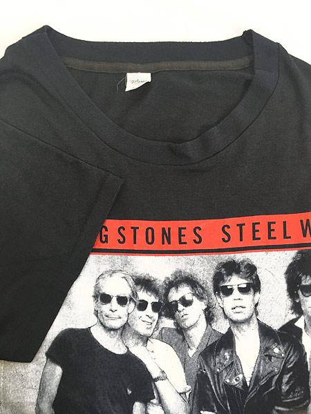[4] 古着 80s USA製 Rolling Stones 「Steel Wheels」 Budweiser ツアー ロック バンド Tシャツ L 古着