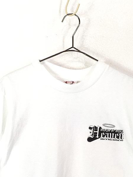 [2] 古着 90s USA製 「Rock'n' Roll Heaven」 VAN HALEN 1984 パロディ Tシャツ S 古着
