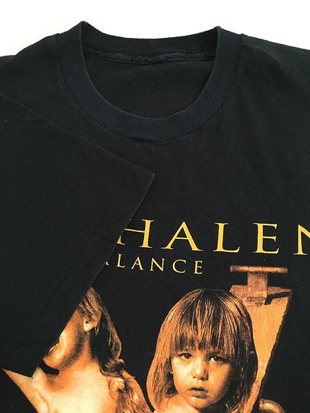 [4] 古着 90s VAN HALEN 「BALANCE」 発売禁止 ハード ロック バンド Tシャツ XL位 古着