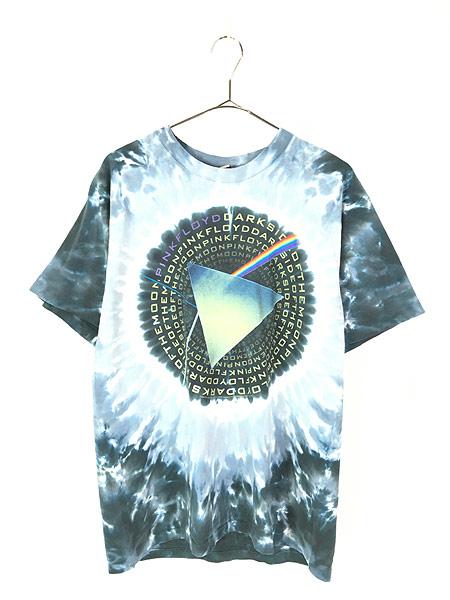 [1] 古着 00s USA製 Pink Floyd 「The Dark Side Of The Moon」 狂気 プログレ ロック バンド タイダイ Tシャツ M 古着