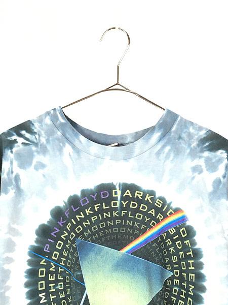 [2] 古着 00s USA製 Pink Floyd 「The Dark Side Of The Moon」 狂気 プログレ ロック バンド タイダイ Tシャツ M 古着