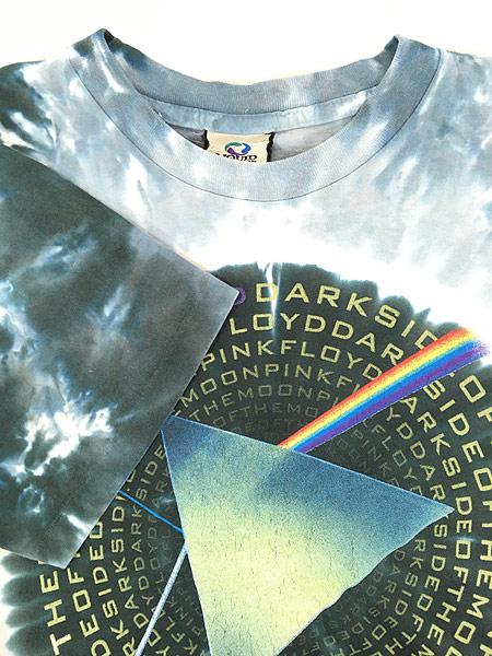 [4] 古着 00s USA製 Pink Floyd 「The Dark Side Of The Moon」 狂気 プログレ ロック バンド タイダイ Tシャツ M 古着