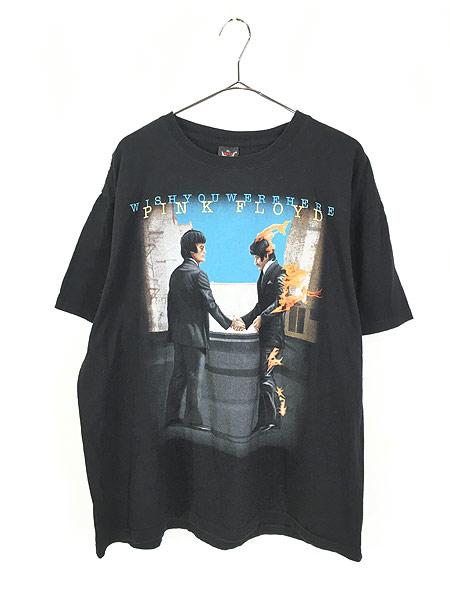 [1] 古着 00s PINK FLOYD 「WISH YOU WERE HERE」 プログレ ロック バンド Tシャツ XL 古着