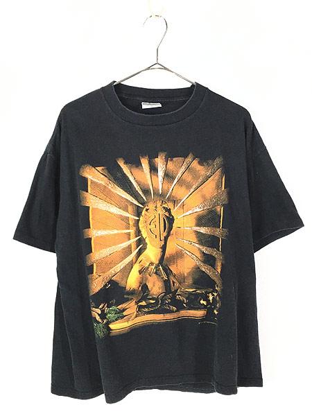 [1] 古着 90s USA製 ELP Emerson Lake & Palmer 「The Atlantic Years」 ツアー プログレ ロック バンド Tシャツ XL 古着