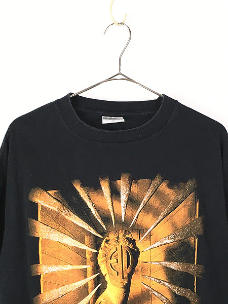 [2] 古着 90s USA製 ELP Emerson Lake & Palmer 「The Atlantic Years」 ツアー プログレ ロック バンド Tシャツ XL 古着