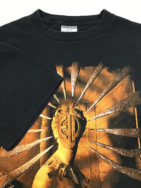 [4] 古着 90s USA製 ELP Emerson Lake & Palmer 「The Atlantic Years」 ツアー プログレ ロック バンド Tシャツ XL 古着