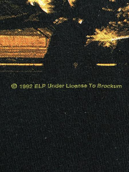 [5] 古着 90s USA製 ELP Emerson Lake & Palmer 「The Atlantic Years」 ツアー プログレ ロック バンド Tシャツ XL 古着