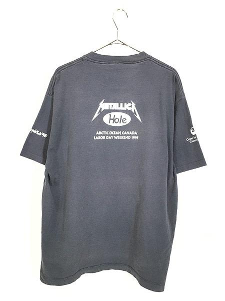 [3] 古着 90s USA製 「Polar Beach Party」 豪華 HOLE × METALLICA フェス ロック バンド Tシャツ XL 古着