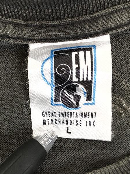 [8] 古着 90s USA製 IRON MAIDEN 豪華 オールオーバー ヘヴィ メタル ロック バンド Tシャツ BORO L 古着