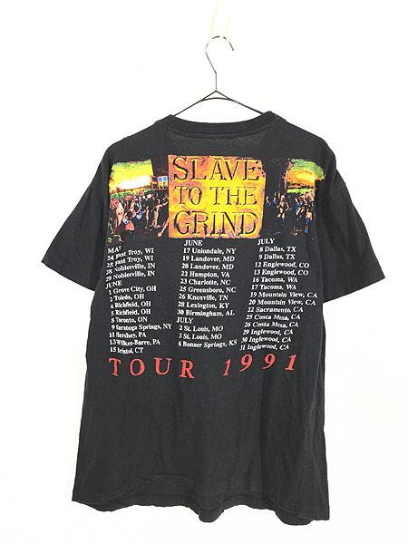 [3] 古着 90s SKID ROW 「SLAVE TO THE GRIND」 ツアー ヘヴィ メタル ロック バンド Tシャツ XL 美品!! 古着