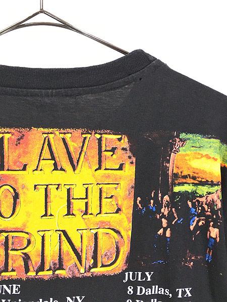 [4] 古着 90s SKID ROW 「SLAVE TO THE GRIND」 ツアー ヘヴィ メタル ロック バンド Tシャツ XL 美品!! 古着