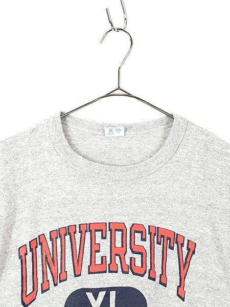 [2] 古着 80s USA製 Champion 「VIRGINIA」 3段 カレッジ 88/12ボディ Tシャツ XL 古着