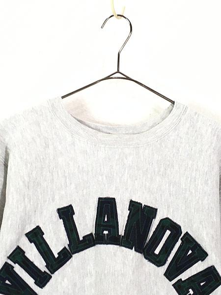 [2] 古着 90s USA製 Champion Reverse Weave 「VILLANOVA」 チェック リバース スウェット M 古着