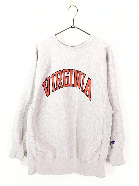 [1] 古着 90s USA製 Champion 「VIRGINIA」 アーチ リバース スウェット XL 古着