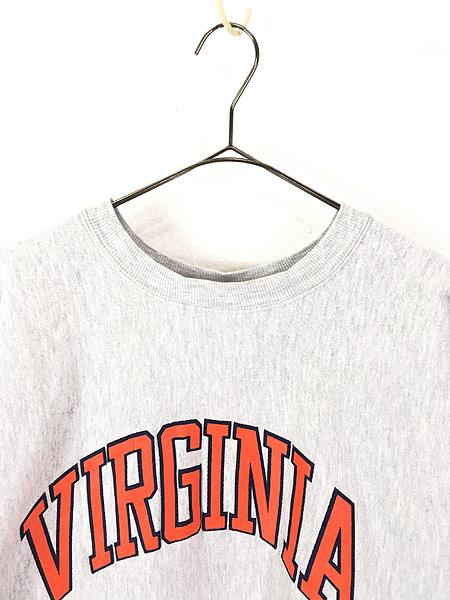 [2] 古着 90s USA製 Champion 「VIRGINIA」 アーチ リバース スウェット XL 古着