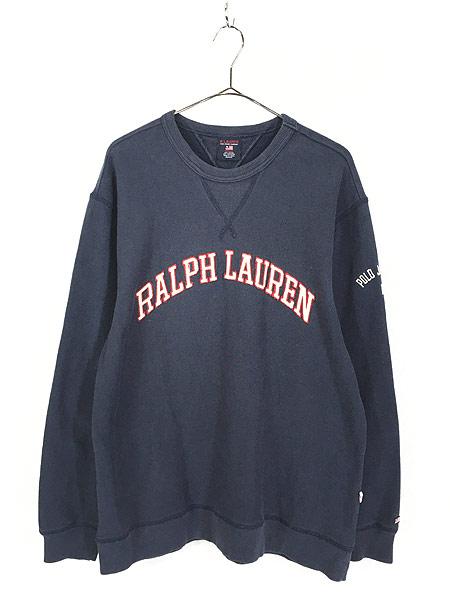 [1] 古着 POLO JEANS Ralph Lauren アーチ ロゴ 両V スウェット トレーナー M 古着