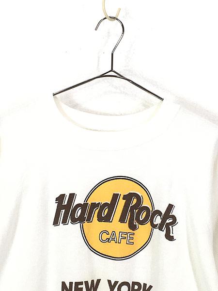 [2] 古着 80s USA製 Hard Rock Cafe 「NEW YORK」 BIGロゴ ハードロック スウェット XL 古着