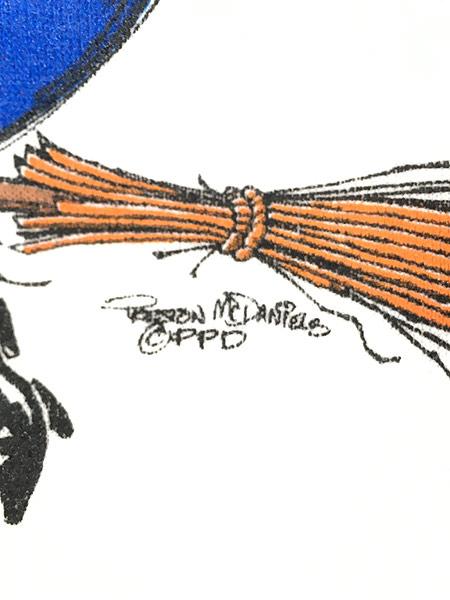 [5] 古着 90s 魔女 ウィッチ 魔法使い ポップ アート スウェット トレーナー L 古着