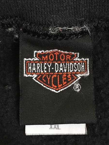 [6] 古着 90s HARLEY DAVIDSON サンダー パターン スウェット トレーナー XXL 古着