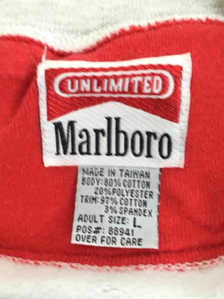 [6] 古着 90s Marlboro マルボロ 「Lizard」 トカゲ ワンポイント スウェット トレーナー L 古着