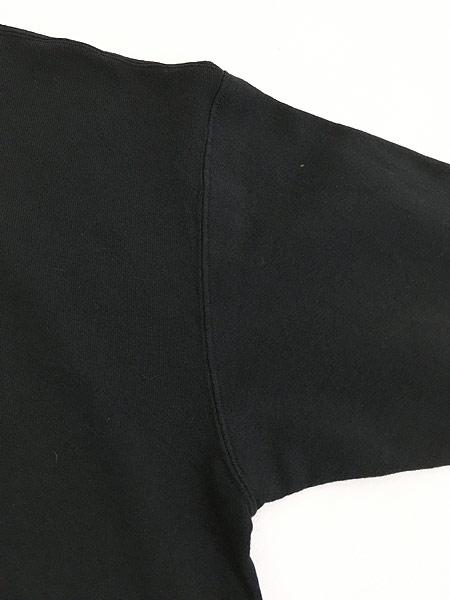 [5] 古着 90s USA製 PLANET HOLLYWOOD 「DALLAS」 BIGロゴ 前V スウェット 黒 XL 古着