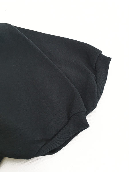 [4] 古着 80s USA製 無地 ソリッド 半袖 スウェット トレーナー 黒 L 古着