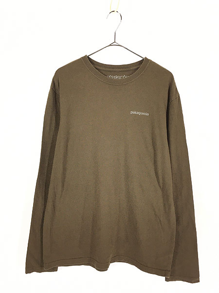 [1] 古着 00s Patagonia カラビナ フォト ロングスリーブ Tシャツ ロンT M 古着