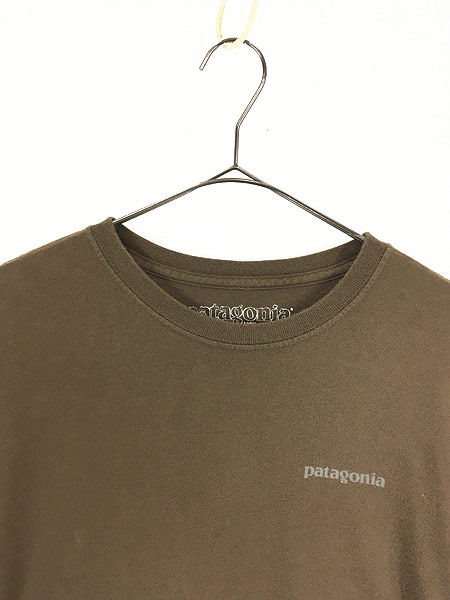 [2] 古着 00s Patagonia カラビナ フォト ロングスリーブ Tシャツ ロンT M 古着